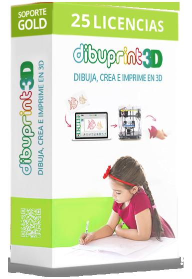 dibuprint 3d licencia medium 25 licencias